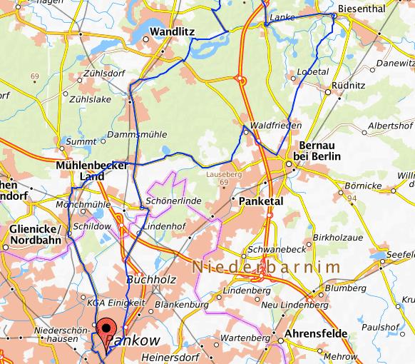 Vollmondfahrt am 22.8.2021 ab Pankow RichtungLanke