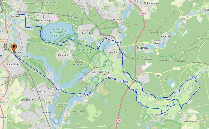 Vollmondfahrt am 24. Juli von Grünau RichtungSpreeau